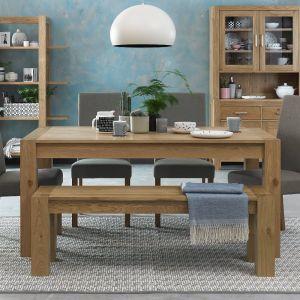 Gemini Light Oak 6 Seater Table