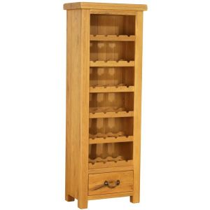 Clearance Slab Oak Wine Rack