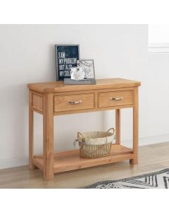 Cambridge Oak Console Table with 2 Drawers