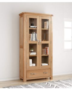 Cambridge Oak Display Cabinet