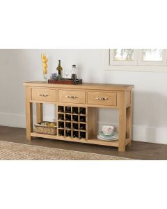 Vogue Light Oak Open Sideboard