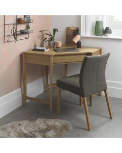 Bergen Oak Corner Desk
