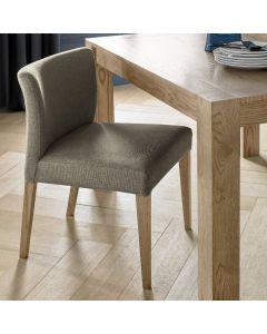 Gemini Light Oak Low Back Uph Chair - Black Gold Fabric (Pair)