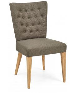 High Park Dining Chair in Black Gold Fabric ( PAIR )