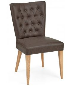 High Park Dining Chair Distressed Bonded Leather ( PAIR )