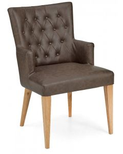 High Park Armchair Distressed Bonded Leather ( PAIR )