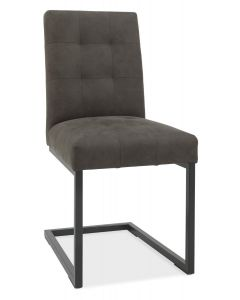 Indus Cantilever Chair Dark Grey Fabric ( PAIR )
