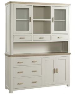 Trieste Large Buffet Hutch-Stone Painted