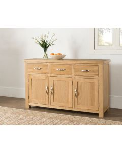 Vogue Light Oak 3 Door Sideboard