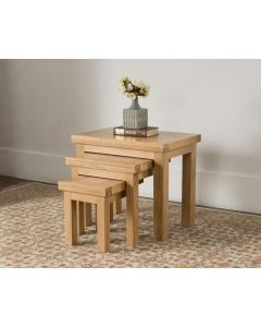 Vogue Light Oak Nest of Tables