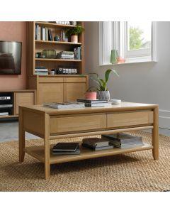 Bergen Oak Coffee Table with Drawer