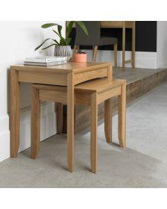 Bergen Oak Nest Of Tables