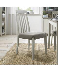 Bergen Grey Washed Slat Back Chair - Titanium Fabric (Pair)