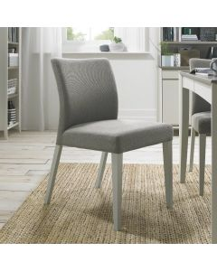 Bergen Grey Washed Uph Chair - Titanium Fabric (Pair)