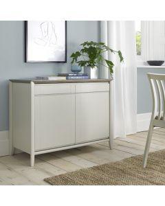 Bergen Grey Washed Oak & Soft Grey Narrow Sideboard