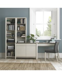 Bergen Grey Washed Oak & Soft Grey Narrow Top Unit