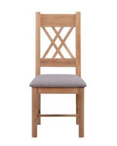 Cambridge Painted Dining Chair with fabric seat pad (Pair)