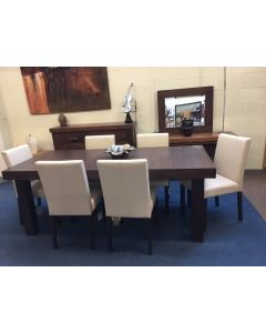 Clearance Akita 6/8 Seat Extending Dining Set  ONE ONLY