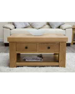 Premier Oak Coffee Table with Drawers
