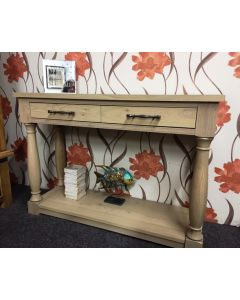 Chartreuse 2 drawer console table