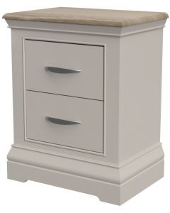 Cobble 2 Drawer Bedside Cabinet