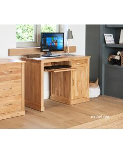 Mobel Oak Single Pedestal Desk