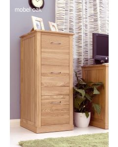 Mobel Oak Three Drawer Filing Cabinet