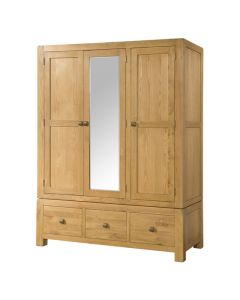 Avalon Triple Wardrobe with Drawers and Mirror