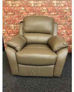Leather Recliner in Taupe