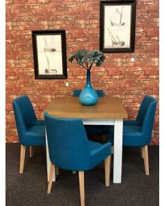 Solid Oak Dining Table & Chairs In ANY COLOUR