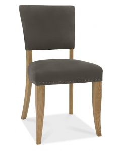 Indus Upholstered Chair Dark Grey Fabric (PAIR)