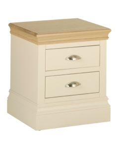 Lincoln 2 Drawer Bedside Cabinet-Ivory