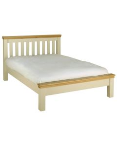 Lincoln Double Bed-Ivory-4' 6""