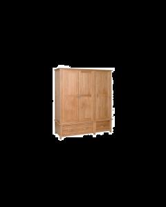 Lindale Oak Triple Wardrobe