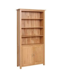 Lindale Oak Bookcase with Cupboard