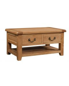 Canterbury Oak Coffee Table with Drawers