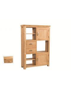 Trieste High Display Unit-Oak Finish