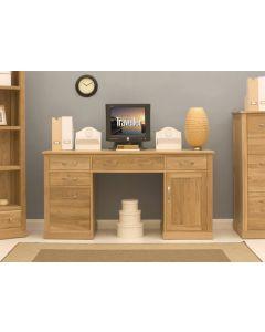 Mobel Oak Twin Pedestal Desk