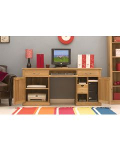 Mobel Oak Large Hidden Home Office