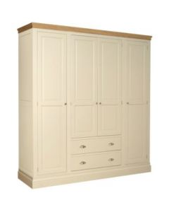 Lincoln Quad Wardrobe in Ivory