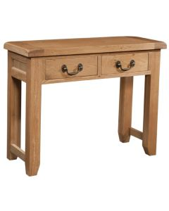 Canterbury Oak 2 Drawer Console Table