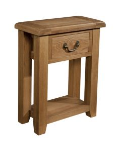 Canterbury Oak Small 1 Drawer Console Table